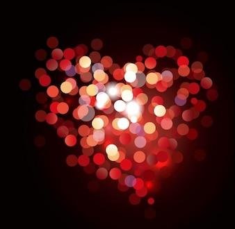 valentine bokeh heart shaped light background