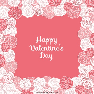 Valentine card with roses
