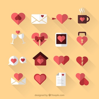 Valentine icons collection