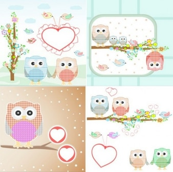 valentine owls of cloth in four scenes