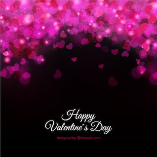 Valentine's card with glossy hearts