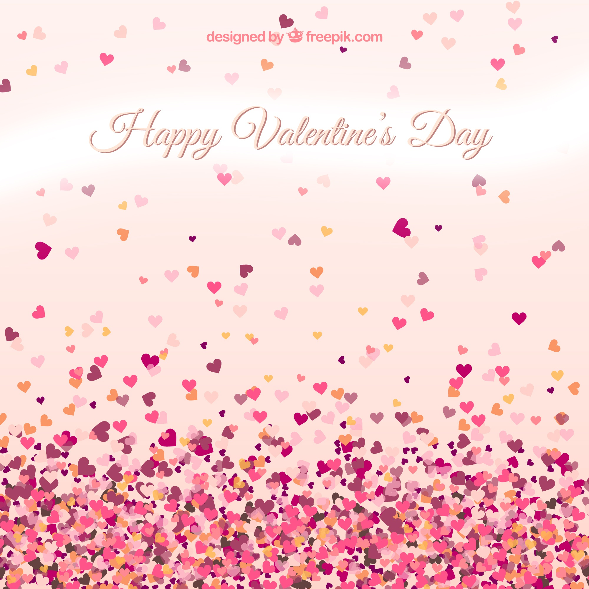 Valentine's card with small hearts