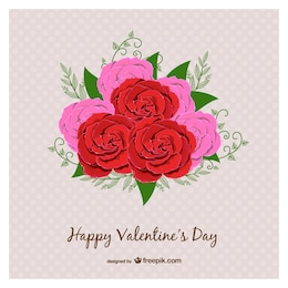 Valentine's Day card with roses