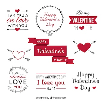 Valentine's Day label pack