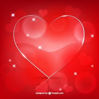 Valentine's glossy heart
