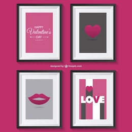 Valentine's greetings with frames