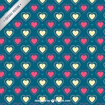 Valentine's hearts pattern