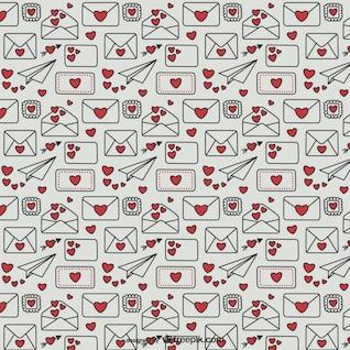 Valentine's letters pattern