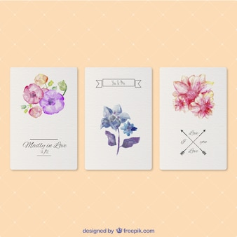 Valentine's watercolor cards
