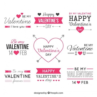 Valentine vector design elements