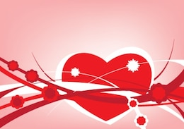 valentines abstract card lines