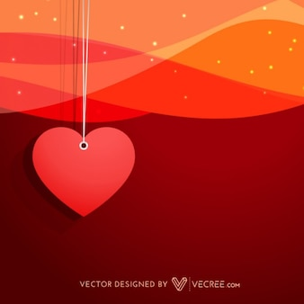 Valentines day background with heart pendant