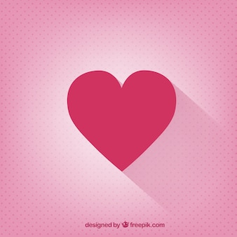 Valentines day card with a flat heart