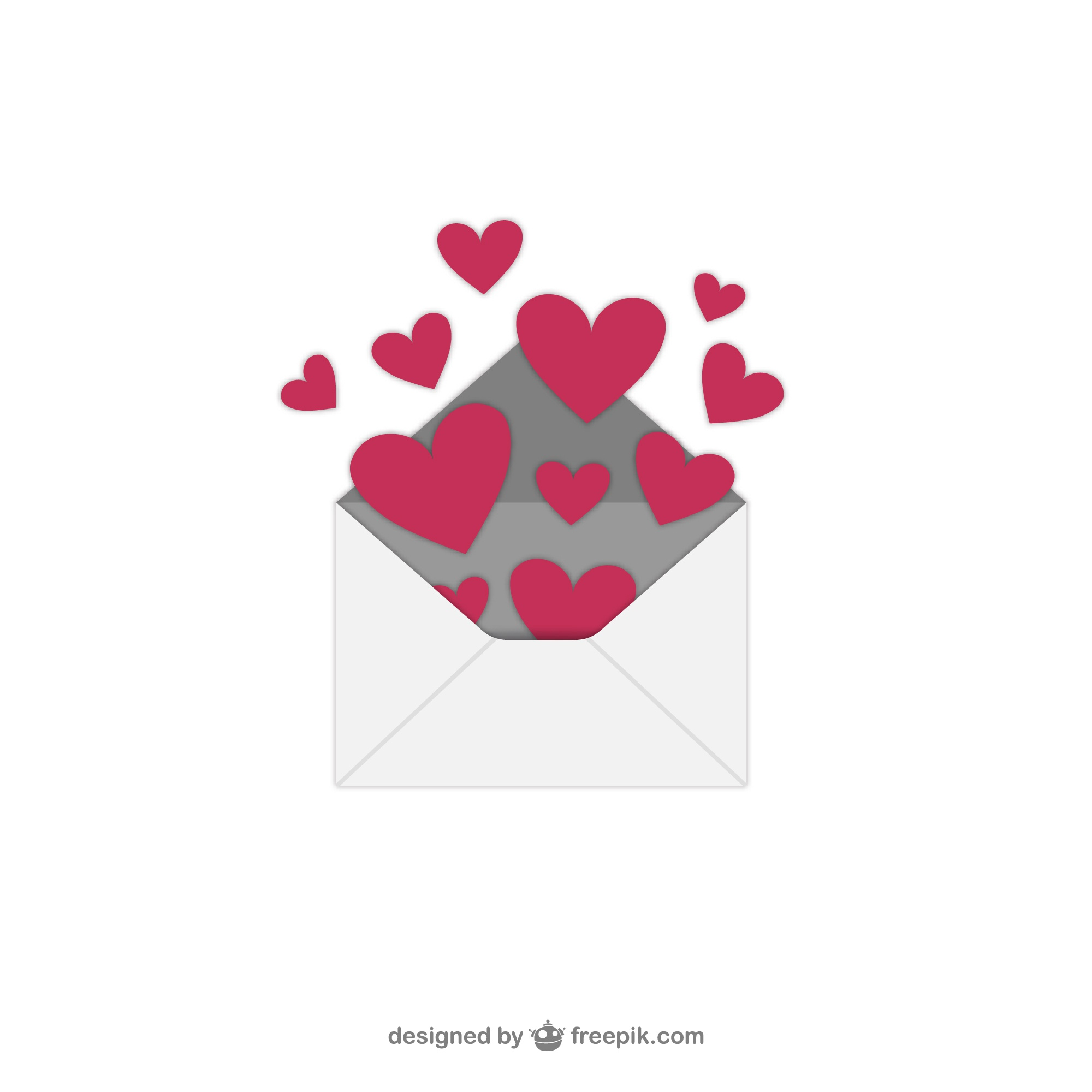 Valentines Day vector with envelope