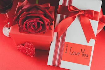 Valentines gifts and roses