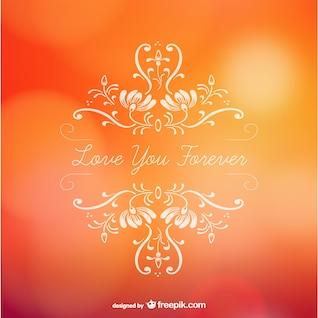 Valentines love forever