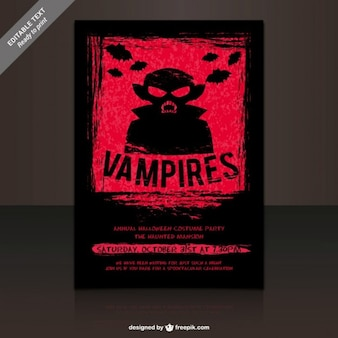 Vampires costumes party poster