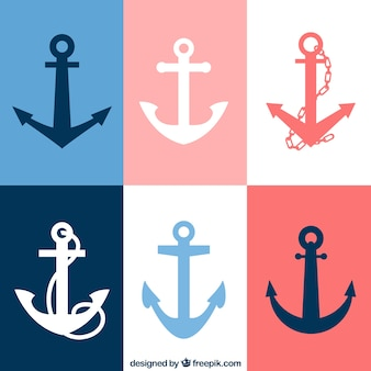 Variety of anchor icons