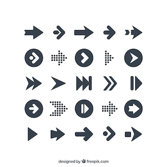 Variety of arrows icons