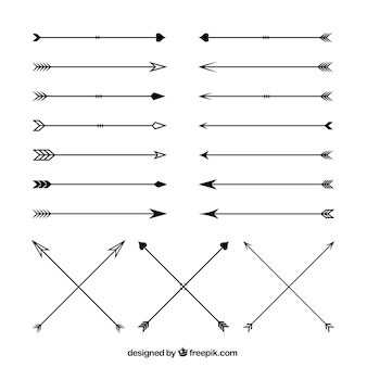 Variety of arrows