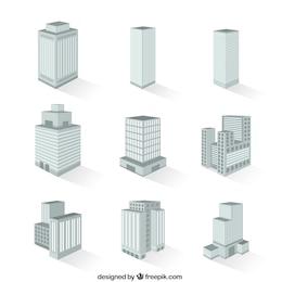 Variety of buildings