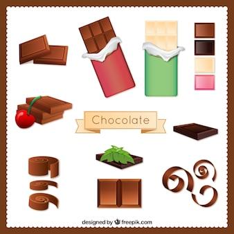 Variety of chocolate