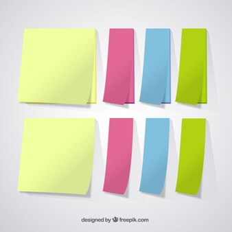 Variety of colored notes