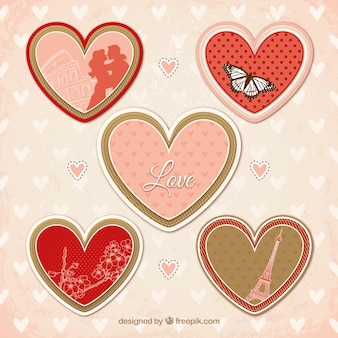 variety of hearts for valentines day