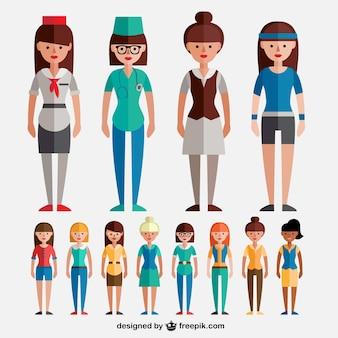 Variety of modern women