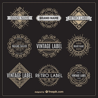 Variety of retro labels