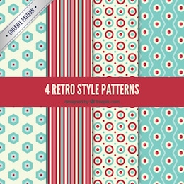 Variety of retro patterns