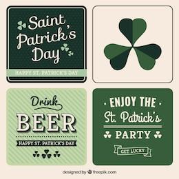 Variety of Saint Patrick card