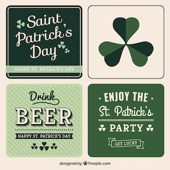 Variety of Saint Patrick card