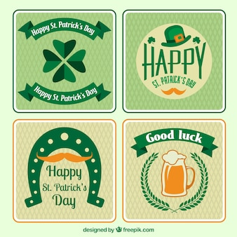 Variety of Saint Patricks day cards