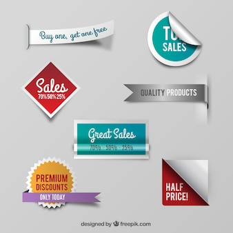 Variety of sale badges