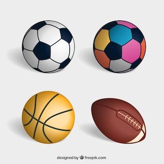 Variety of sport balls