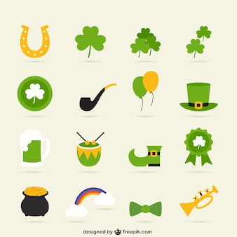 Variety of st patricks day icons