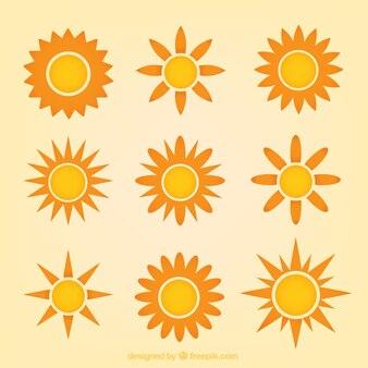 Variety of suns
