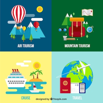 Variety of travel topics