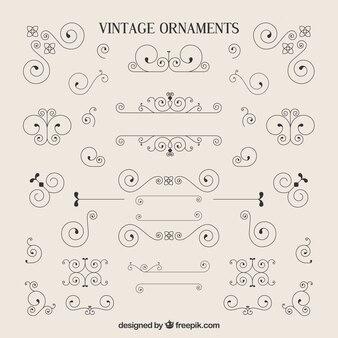 Variety of vintage ornaments