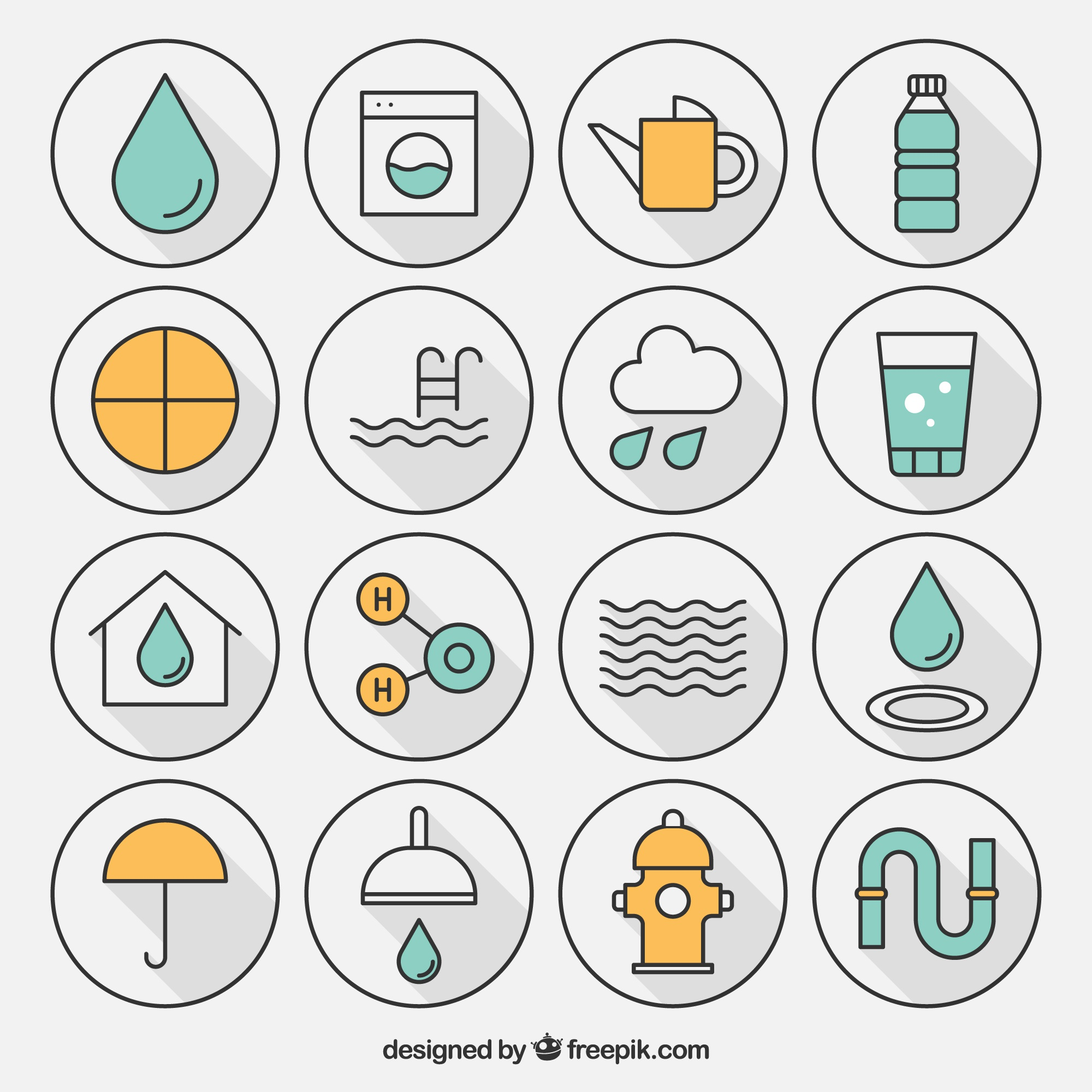 Variety of water icon