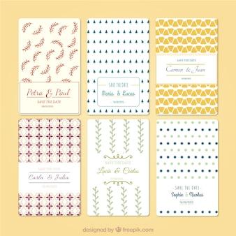 Variety of wedding invitations