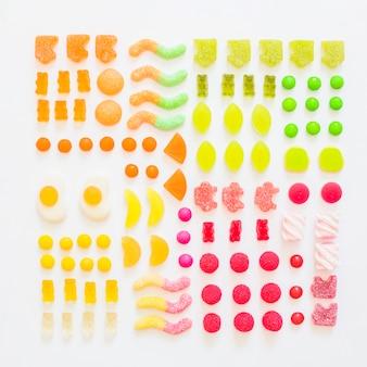 Various fruit gummies