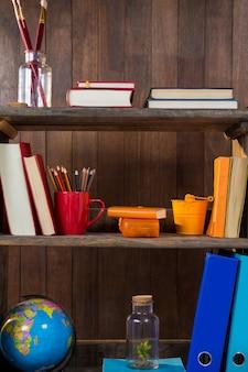 Various object in shelf