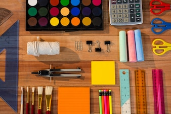 Various types of stationery
