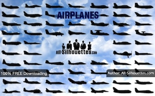 Vector Airplanes sideview | All Silhouettes
