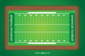 Vector american football field