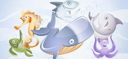 vector aquatic animals