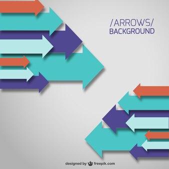 Vector arrows background