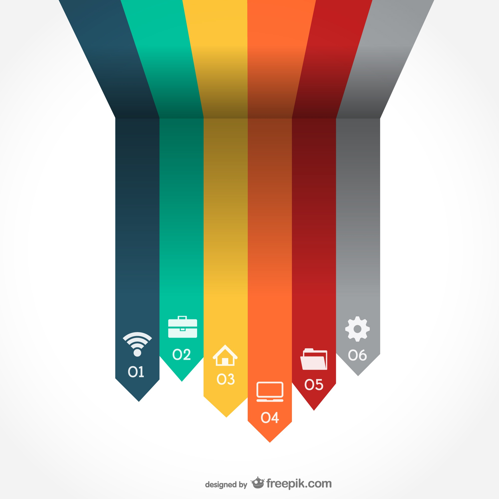 Vector arrrows infography
